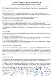 Charte Plume 2020